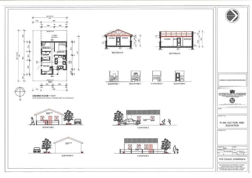 Simple House Plan Section Elevation - House Plans